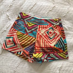 J.Crew Size 2 Tribal Multi Color Shorts